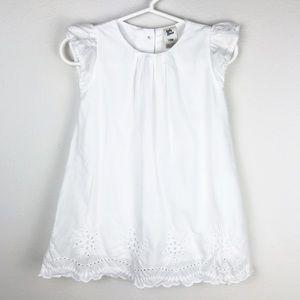 Oshkosh White Eyelet Lace Trim Dress 18 Months
